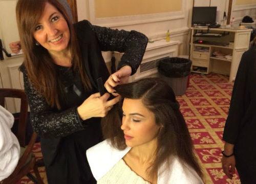 Pilar Díaz de Arranz peina a Miss World 2013 en Sí Carlton Bodas