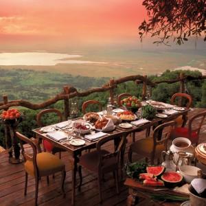 Desayuno en Tanzania