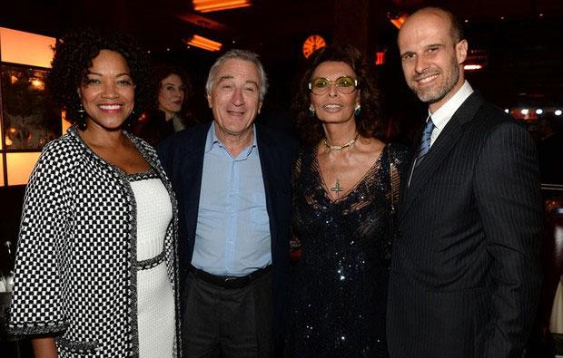 Robert de Niro y Sophia Loren en el Festival de Cine de Tribeca