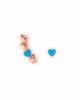 Coeurs Perlés turquesa poiray