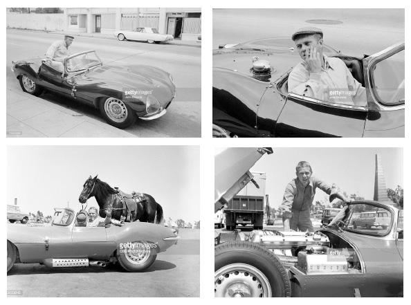 Steve Mcqueen jaguar motor