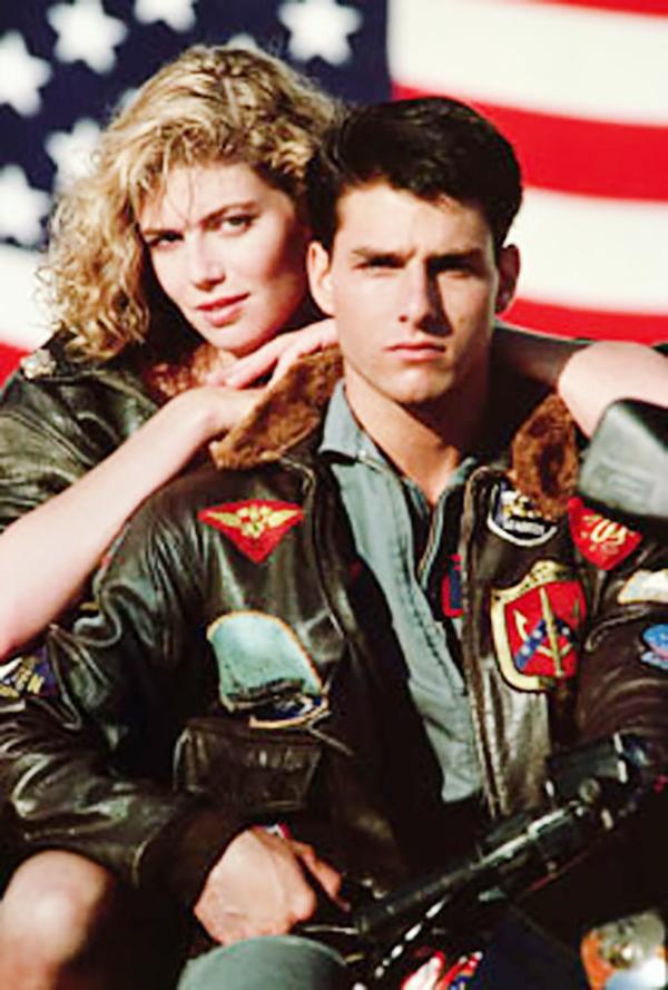 Tom Cruise con chamarra de cuero de Top Gun