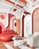 Casa decor y su butaca de labios rojos